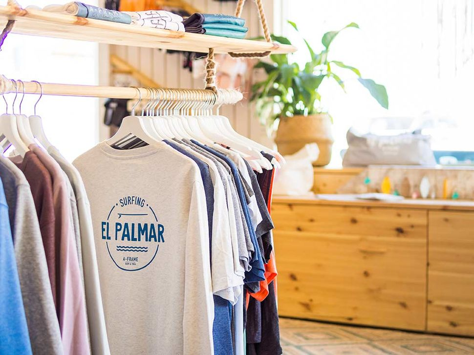 A-Frame Collection in the Surfshop in El Palmar