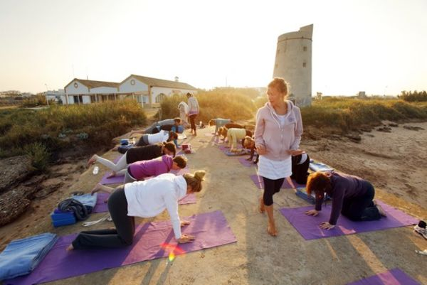 Yoga El Palmar at the tower