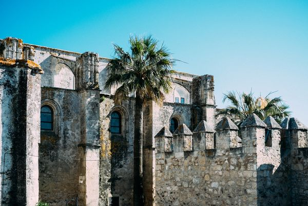 Castle in Vejer at a frame surfcamp andalusia