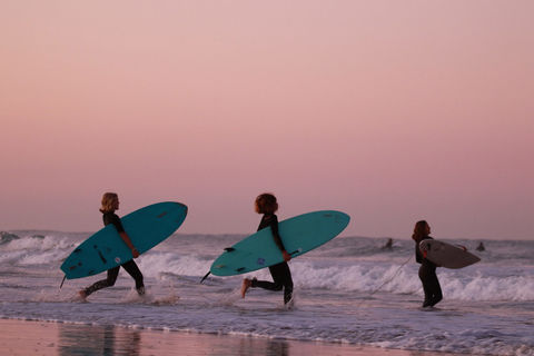 Surf course for children and families at A-Frame Surfcamp El Palmar