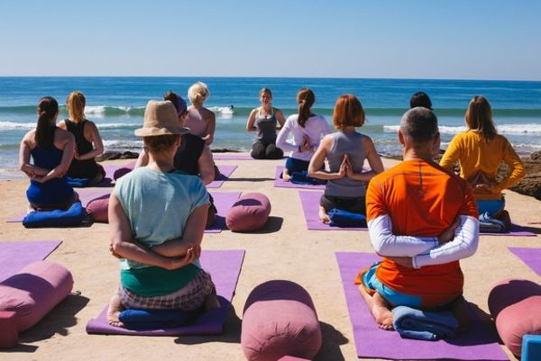 Yoga with sea view in El Palmar