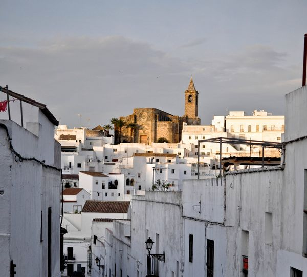 The famous castle of Vejer near the a frame surfcamp andalusia