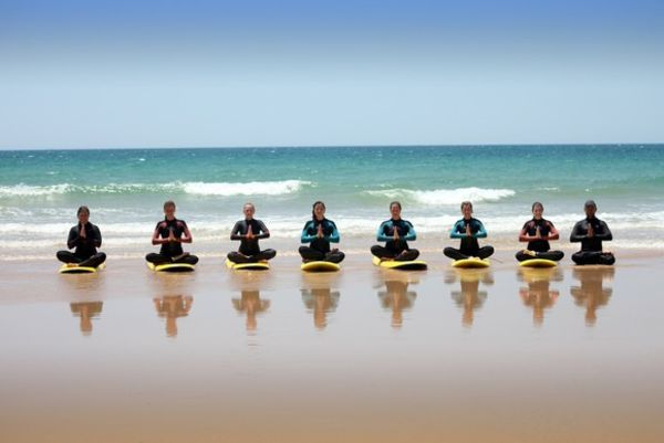 Surf Yoga in El Palmar