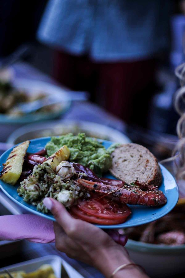 Delicious food in the A-Frame Surfcamp in Andalusia