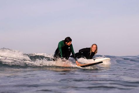 Surfing in Spain in our Beginner Surf Course