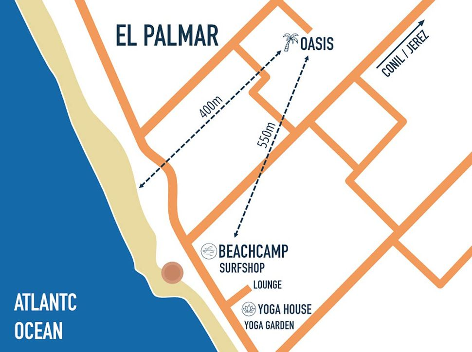 Fantastic accommodation by the sea in El Palmar